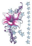 Flirty Star Flower Tattoos