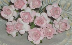 Light Pink Paper Roses via Etsy