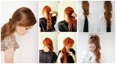 Love My Hairstyle: How To: Twisted Side Ponytail Five Minute Hairstyles, Diy Hairstyles, Pretty Hairstyles, Easy Hairstyle, Hairstyle Tutorials, Amazing Hairstyles, Hairstyle Ideas, Heatless Hairstyles, Easy Updo