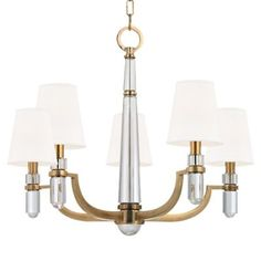 MASTER BATH (w/ matching sconce) Dayton Chandelier by Hudson Valley Lighting