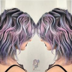 Metallic pastel rainbow hair by @colordollz Toni Rose Larson hotonbeauty