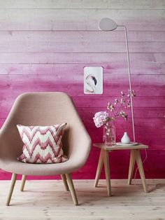 pink wall ombre