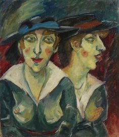 Georg Tappert - Weibliches Doppelbildnis (Zwei weibliche Köpfe) 1918