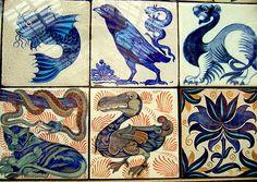 WIlliam De Morgan tiles. Real beauty