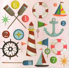 Nautical Menagerie by Lisa Congdon