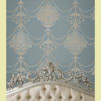 looks like a cinderella room!!  Duchess Damask Stencil