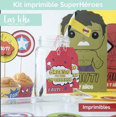 Bolsas De Fiesta 2 Superhéroe personalizado y conos Dulce Princesa
