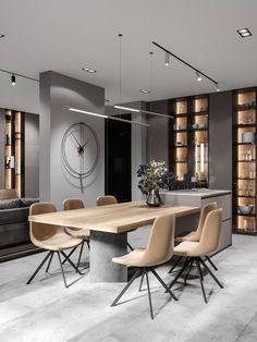 Kitchen Room Design, Modern Kitchen Design, Dining Room Design, Home Decor Kitchen, Interior Design Kitchen, Dinning Room Ideas, Kitchen Ideas, Beautiful Living Rooms, Cuisines Design