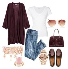 A fashion look from September 2015 featuring h&m tops, james perse t shirts and boyfriend fit jeans. Browse and shop related looks. Boyfriend Fit Jeans, Fitflop, James Perse, Henri Bendel, H&m Tops, Roberto Cavalli, J Crew, Fashion Looks, Polyvore