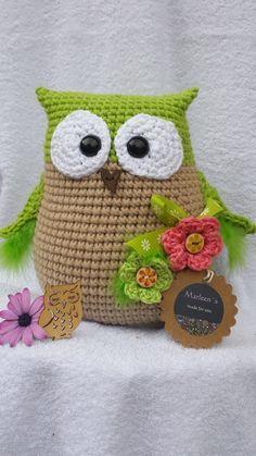 Folgende Häkelkenntnisse sind erforderlich Luftmaschen, Kettmaschen, feste Maschen Mit Nadelstärke wird Ruby ca. Owl Knitting Pattern, Owl Crochet Patterns, Crochet Pillow Pattern, Crochet Owls, Crochet Amigurumi, Owl Patterns, Amigurumi Patterns, Crochet Crafts, Yarn Crafts