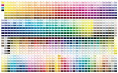 Pantone's extensive color chart pantone Pantone Cmyk, Pantone Color Chart, Pms Color Chart, Pms Colour, Color Charts, Pantone Matching System, Cs6 Photoshop, Interior Paint Colors, Interior Design