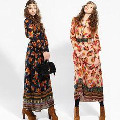 bohemian wear for women | Wholesale New Fashion Bohemian Dress,Women's casual dresses maxi dress ...