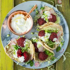 Beetroot falafel crispy skinned and soft centred spiced delights Falafel, Everyday Superfood, Full Fat Greek Yogurt, Slider Sandwiches, Sliders, A Food, Food And Drink, Superfood Recipes, Healthy Recipes