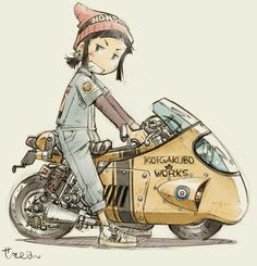 (1) Twitter Character Concept, Character Art, Concept Art, Character Design, Motorcycle Art, Bike Art, Art Moto, Bike Illustration, Akira