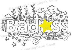 Badss Swear Words Printable Coloring Pages Word