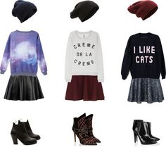 Skater skirts. The sweater on the right! Need.