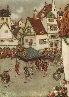 """dulac artist - Google Search.    """"The king's new clothes"""".    Hans Christian Anderson"""