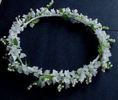 craft idea lily of the valley flower girl headband