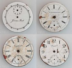 Great vintage clock faces -- free printables. great for office to indicate work hours....