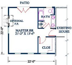 √ 69 Master Bedroom Plans with Bath and Walk In Closet Master Suite Floor Plan Fantastic Master Suite Floor Plans Polished Bedroom Addition Plans, Master Bedroom Addition, Master Bedroom Plans, Home Addition Plans, Garage Addition, Small Master Bedroom, Home Additions, Girls Bedroom, Modern Bedroom