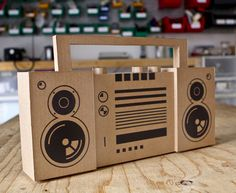 Jude Pullen designed this great cardboard Boom Box for the Touch Board. The…