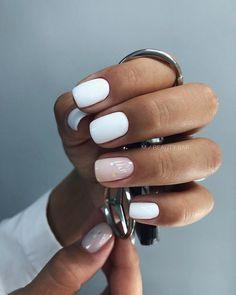 natural summer pink nails design for short square nails page 45 , Gelish Nails, Nude Nails, Pink Nails, My Nails, Hair And Nails, Acrylic Nails, Cute Nail Art Designs, Nail Designs Spring, Cute Spring Nails