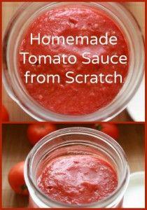 Recipe for Homemade Tomato Sauce from Scratch   NaturalFamilyToday.com