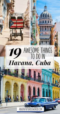 19 Awesome Things to do in Havana, Cuba - From driving around in a classic Cadillac to drinking daiquiris in Ernest Hemingway's old haunt, here are some of the best things to do in Havana, Cuba. >> Click through to read the full post! <<
