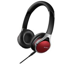MDR-10RC Headphones - Red. Designed in collaboration with The Script, the Sony MDR-10RC Headphones are made to be comfortable and produce deep and rich sound. Don't miss a beat These stunning red headphones offer a full range of sound,
