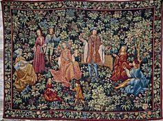 Garden Tapestry   Medieval Castle de Montbrun, Dournazac, Haute-Vienne, France