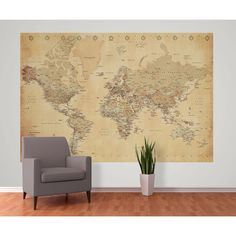 1Wall Old Map Deco Wallpaper Mural