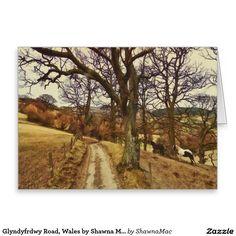 Glyndyfrdwy Road, Wales by Shawna Mac Greeting Card