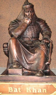 Batu Khan (c. 1207–1255) was a Mongol ruler & founder of Ulus of Jochi (or Golden Horde), sub-khanate of Mongol Empire. Batu was a son of Jochi & grandson of Genghis Khan. His ulus was chief state of Kipchak Khanate, which ruled Rus, Volga Bulgaria, Cumania, & Caucasus for around 250 years, after also destroying armies of Poland & Hungary. After deaths of Genghis Khan's sons, he became the most respected prince called agha (elder brother) in Mongol Empire.