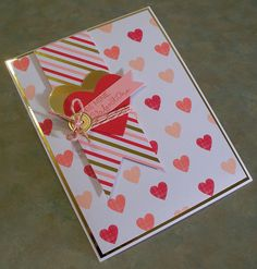Be Mine Valentine's Day Card using Stampin' Up 2015 January Paper Pumpkin kit & Stacked with Love designer pack