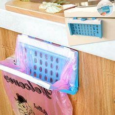 Foldable Plastic Garbage Bag Rack Portable Hanging Trash Rubbish Bag Storage Holder Kitchen Gadgets