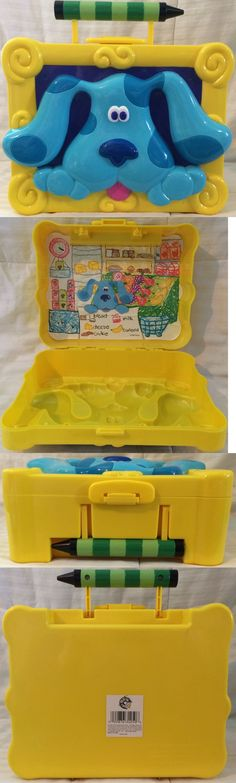 Blues Clues 2626: 1999 Vintage Retro Blue S Clues Storage Box With Carrying Handle A1+++++ 100% Ln -> BUY IT NOW ONLY: $35.35 on eBay!