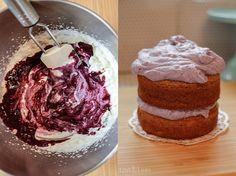 LoveAndLilies.de | Gesunder Bananen-Apfelmus-Kuchen mit Blaubeersahne zum 1. Geburtstag