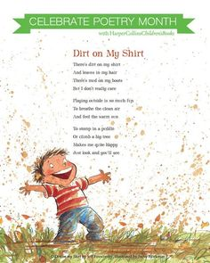 A lovely poem to promote outside play... Dirt on my shirt! Think I might have this book... To many to keep track of jeff foxworthy poem book I think