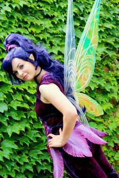 The feathers on this costume are great! - Extra Large Vidia Inspired Fairy Wings in your choice of colors. $299.00, via Etsy.