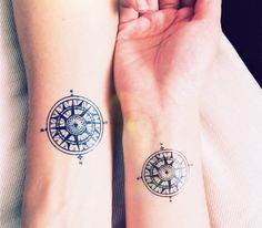 Tattoo Ideas for Men – 150 Cute Small Tattoos Ideas For Men, Women, Girls… Vintage Compass tattoo travel InknArt Temporary Beautiful tattoo but east and west are on the wrong side. Vintage Compass Tattoo, Tatoo Compass, Compass Tattoo Design, Compass Rose, Feminine Compass Tattoo, Map Compass, Pocket Compass, Tattoo Vintage, Wrist Tattoos For Guys