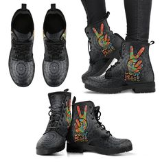 buy online 9702c 93a17 Love and Peace Women s Leather Boots