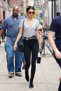 Kendall Jenner leaves an office building after a photo shoot in New York on June 18, 2015.   - Cosmopolitan.com