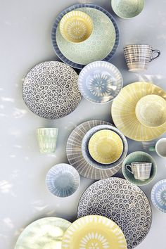 I really love this Danish style pottery - it would brighten up any kitchen and the colour combinations are just perfect.