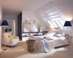 Nice Schlafzimmer Dach Gestalten that you must know, Youre in good company if you?re looking for Schlafzimmer Dach Gestalten Attic Bedrooms, Home Bedroom, Bedroom Decor, Bonus Rooms, Home And Living, Room Inspiration, Sweet Home, New Homes, House Ideas