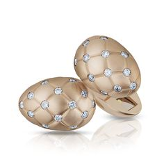 Faberge -  Rose Matt Gold & Diamond Cufflinks. - Indeed: I must emulate and exceed this- it is elegant and well conceived-COMPETE!