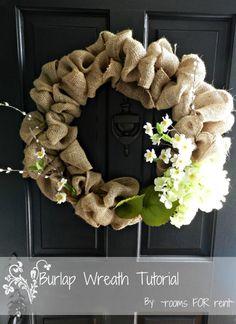 {Spring Burlap Wreath} - Rooms For Rent blog