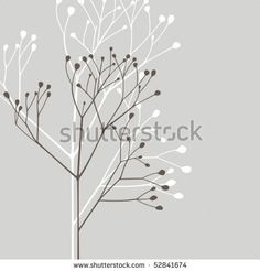 Vector design element; abstract plant - stock vector