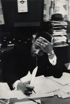 Martin Luther King photo by Henry Cartier-Bresson