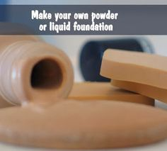 DIY Natural Foundation Recipe Powder and Liquid...using things like arrowroot powder. Super intrigued by this!