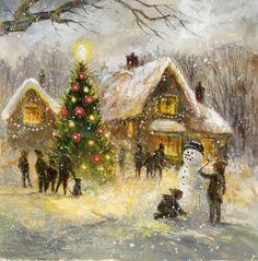 Τζιμ Μίτσελ - σέπια series2 snowman.jpg τέχνης